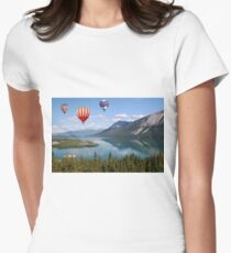 Ballons over the lake Womens Fitted T-Shirt
