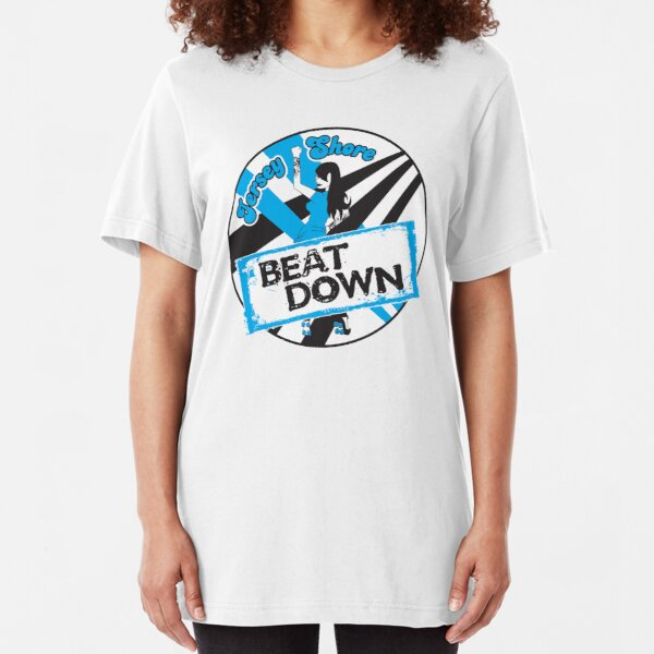 Jersey Shore Roller Girls - Beat Down Slim Fit T-Shirt