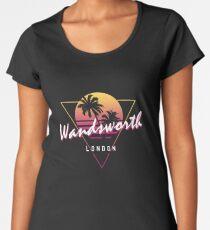 Funny 80s Retro Sunset 'Wandsworth' London Women's Premium T-Shirt