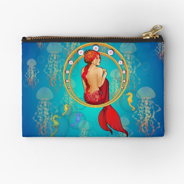 The mermaid and the sea horses Zipper Pouch