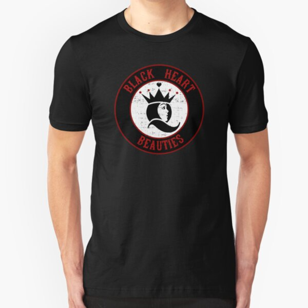 Jersey Shore Roller Girls - Black Heart Beauties Slim Fit T-Shirt