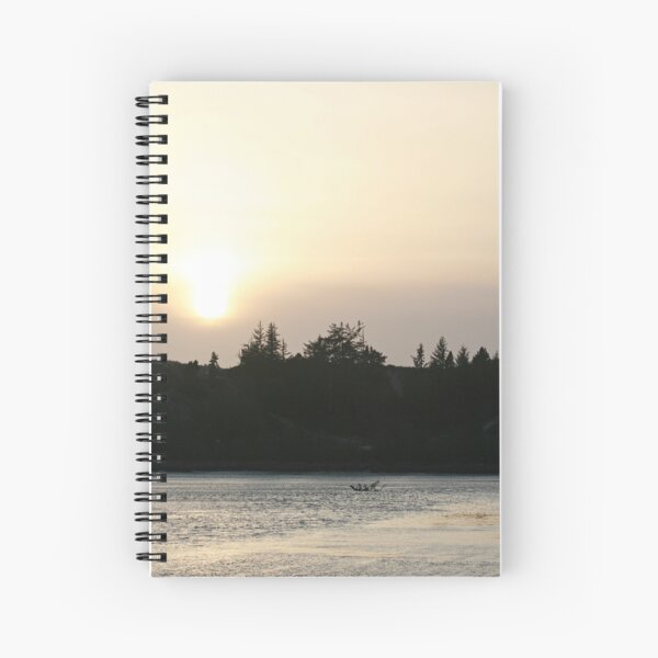 That end of the day light Spiral Notebook
