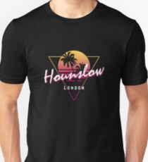 Funny 80s Retro Sunset 'Hounslow' London Unisex T-Shirt