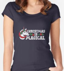 Christmas is Magical  Women's Fitted Scoop T-Shirt