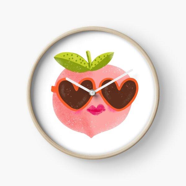 Peach Sunnies Clock