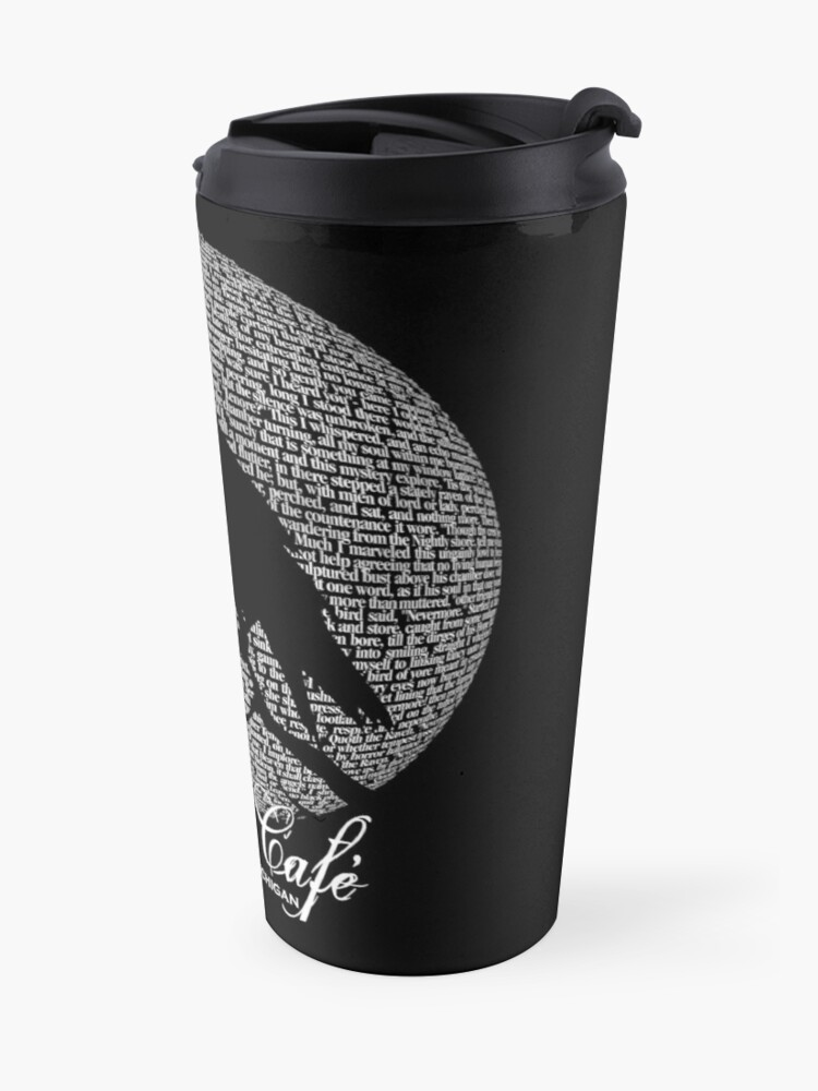 Alternate view of The Raven Moon Poem by Edgar Allan Poe - RAVEN CAFE Travel Mug
