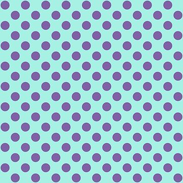 Large Polka Dots in Violet Purple on Aqua  by MelFischer