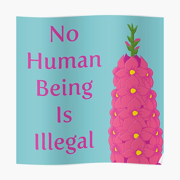No Human Being Is Illegal Poster