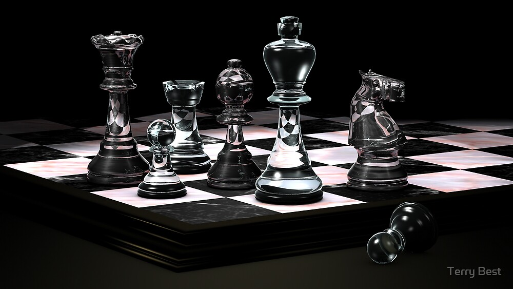 Glass Chess Set By Terry Best Redbubble