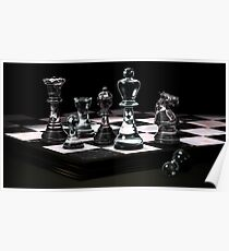 Glass Chess Set Poster