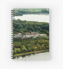 Fort Ticonderoga Lake Champlain Autumn Fall Spiral Notebook