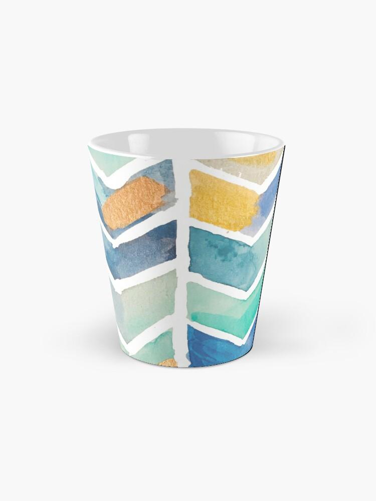 Alternate view of Freehand Watercolor Chevron Pattern Mug
