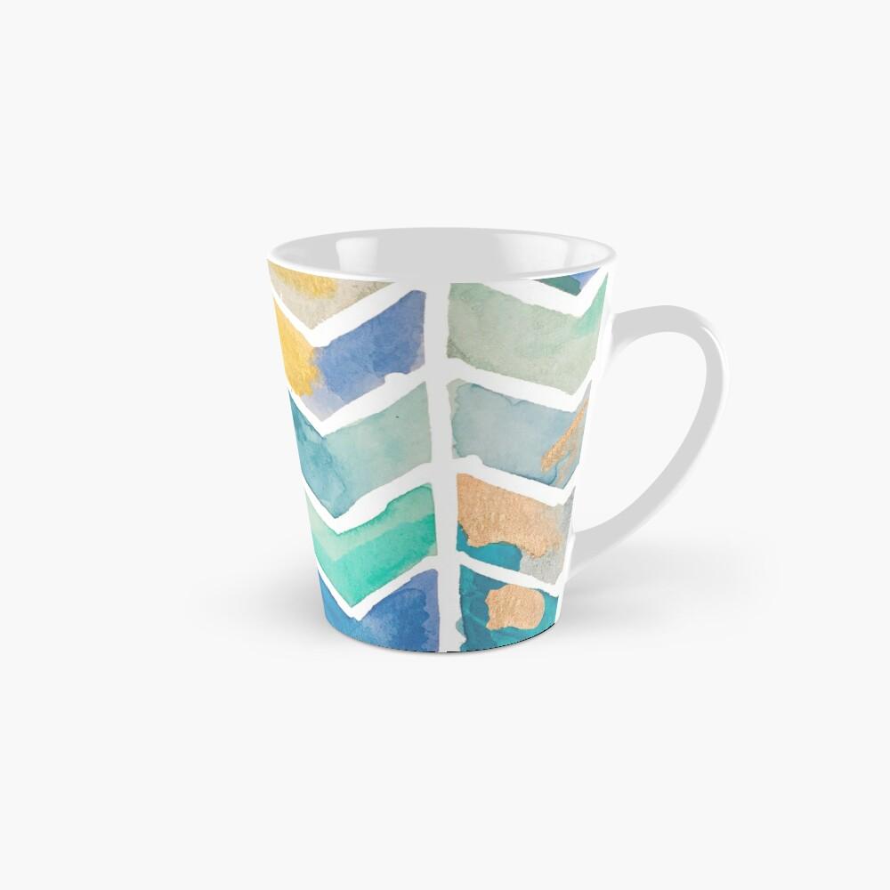 Freehand Watercolor Chevron Pattern Mug
