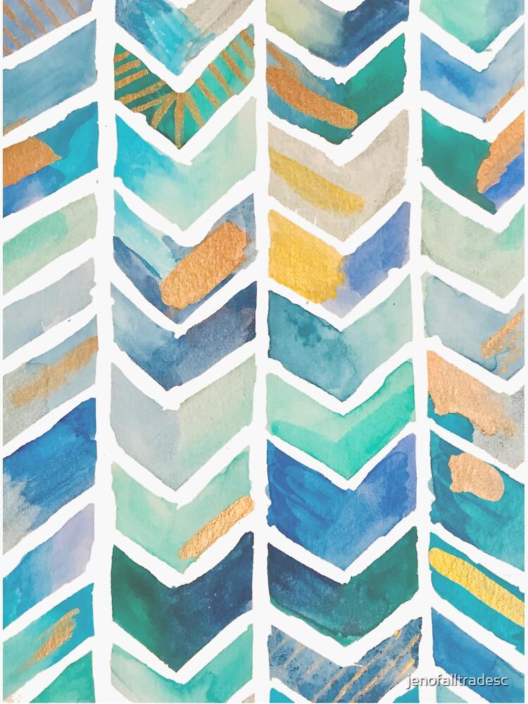 Freehand Watercolor Chevron Pattern by jenofalltradesc