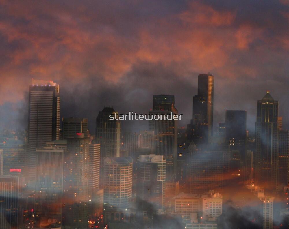 Surreal Seattle by starlitewonder