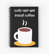 Linux Install Coffee Spiral Notebook
