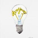Love Yourself - Glühbirne von Claudia Brüggen