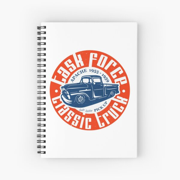 Task Force Apache Classic Truck 1955 - 1959 Spiral Notebook