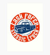 Task Force Apache Classic Truck 1955 - 1959 Kunstdruck