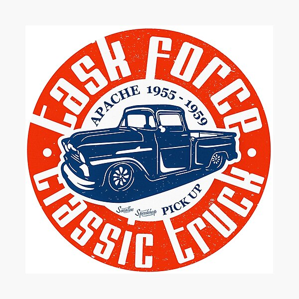 Task Force Apache Classic Truck 1955 - 1959 Photographic Print