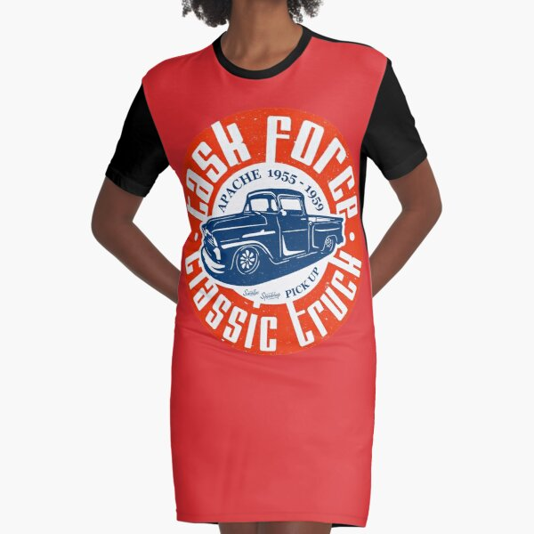 Task Force Apache Classic Truck 1955 - 1959 Graphic T-Shirt Dress