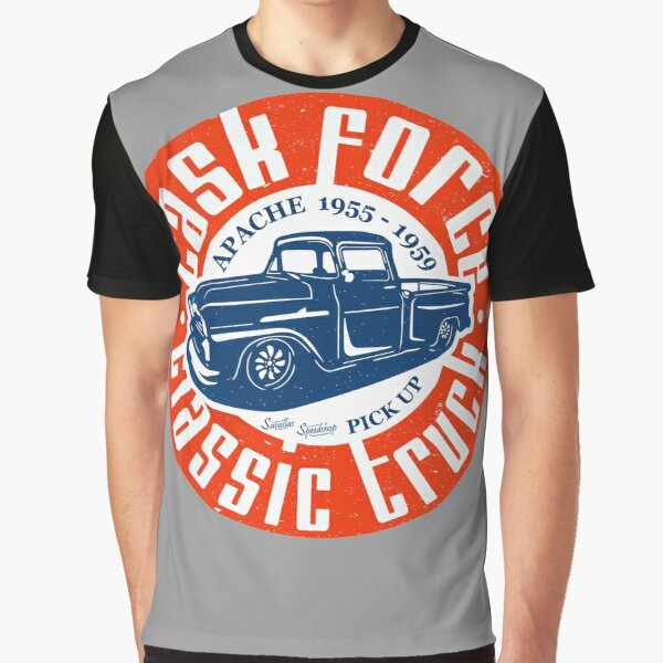Task Force Apache Classic Truck 1955 - 1959 Graphic T-Shirt