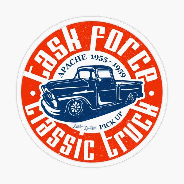 Task Force Apache Classic Truck 1955 - 1959 Transparent Sticker