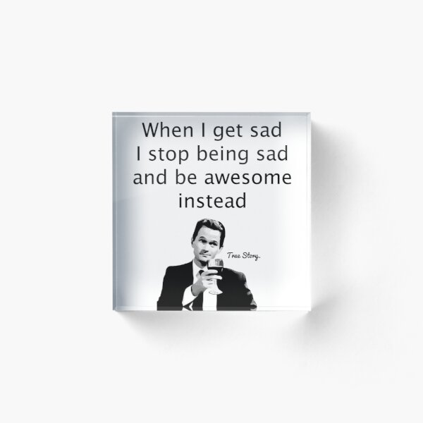 When Barney Gets Sad Acrylic Block