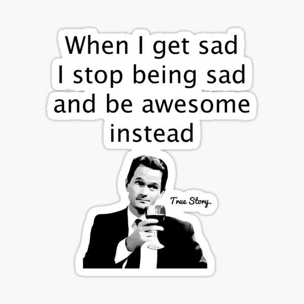 When Barney Gets Sad Pegatina