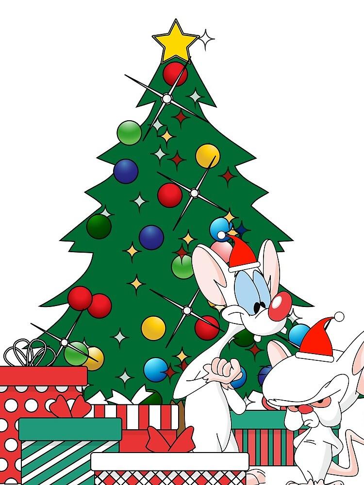 Pinky And The Brain Around The Christmas Tree by Nova5
