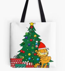 Bolsa de tela Garfield alrededor del arbol de navidad