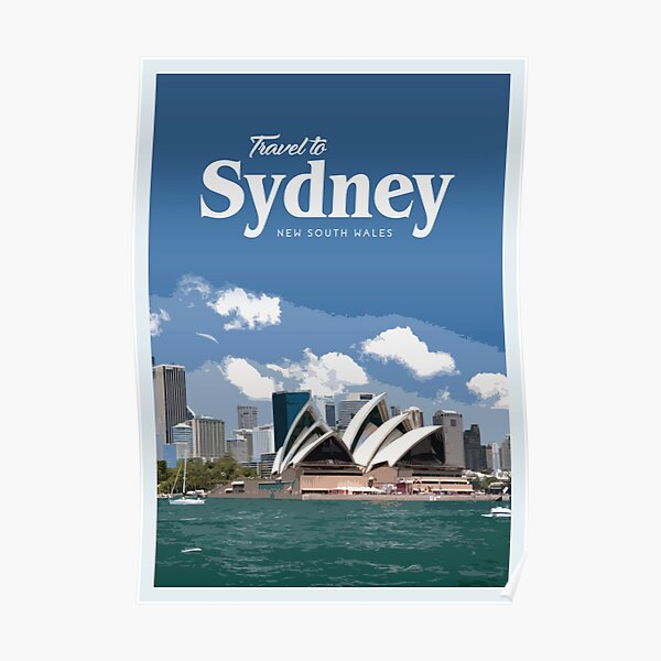 Travel to Sydney Poster