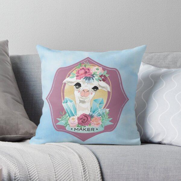 Blue Sky Maker Alpaca for all Crafters, Knitters, Crochet Throw Pillow