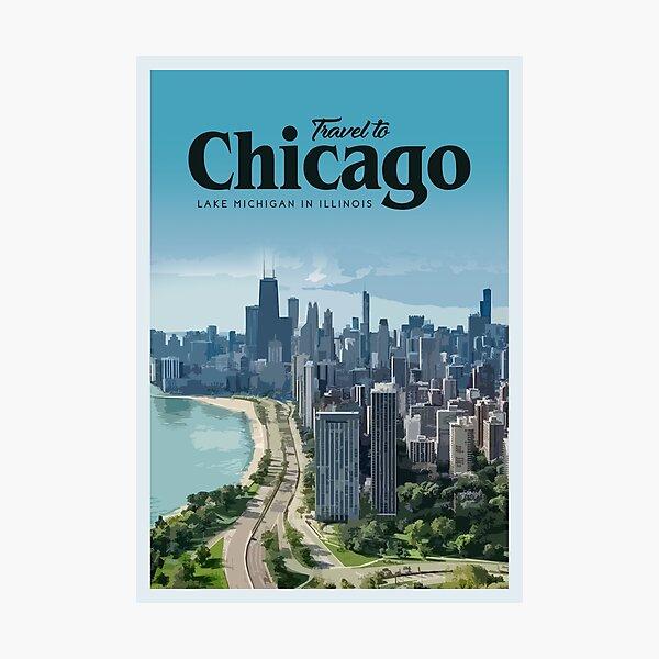 Visit Chicago Photographic Print