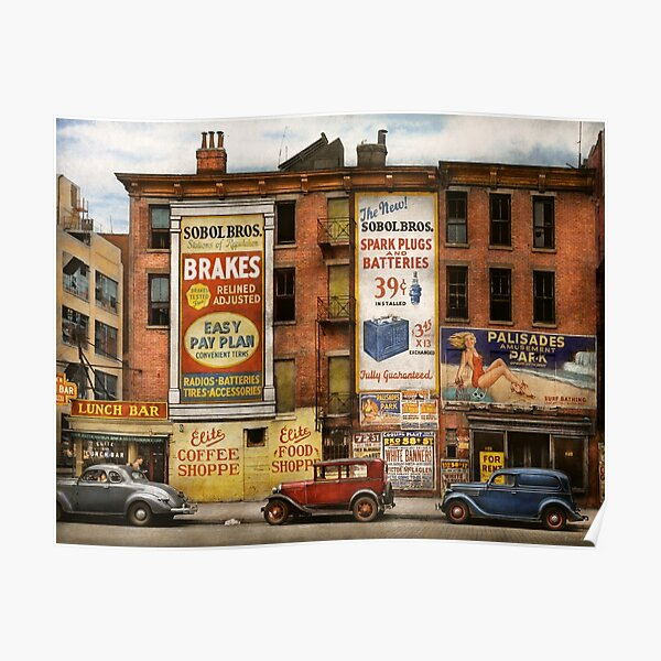 City - New York NY - Elite lunch bar 1938 Poster