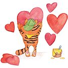 February Tiger : St.Valentine's day by Lalayf