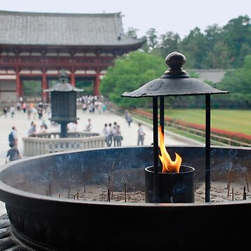 Incense Burner at Todaiji Temple  by jojobob