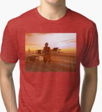 ARES CYBORG IN THE DESERT OF HYPERION,Sci Fi Movie Tri-blend T-Shirt