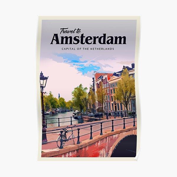 Visit Amsterdam  Poster
