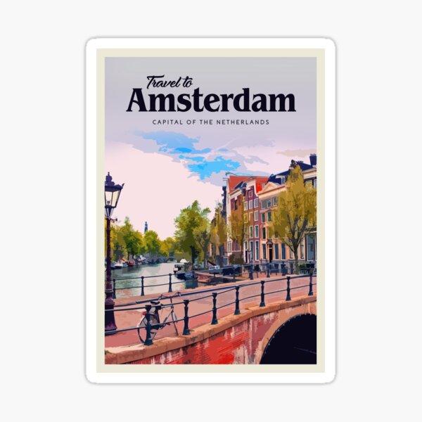 Visit Amsterdam  Sticker