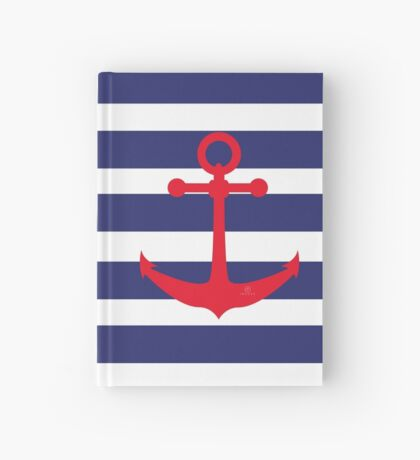 AFE Nautical Red Ship Anchor Hardcover Journal