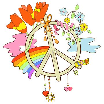 Rainbow Peace symbol by Lalayf