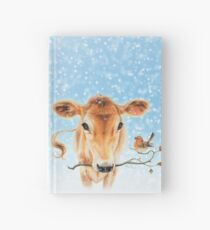 Christmas cow by Maria Tiqwah Hardcover Journal