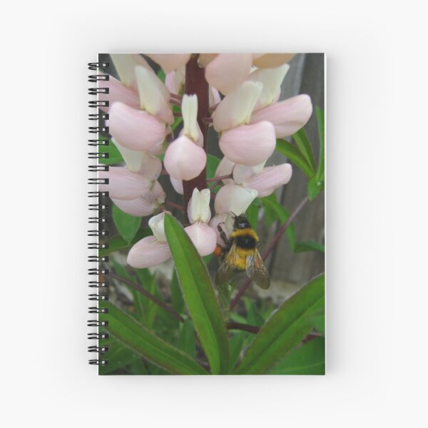 bumblebee sipping.. Spiral Notebook