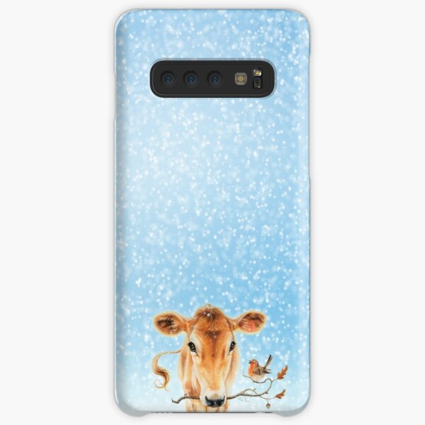 Christmas cow by Maria Tiqwah Samsung Galaxy Snap Case