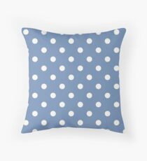 Blue and White Polka Dots  Floor Pillow