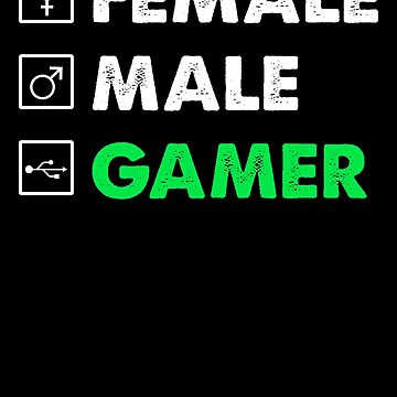Female Male Gamer by Distrill