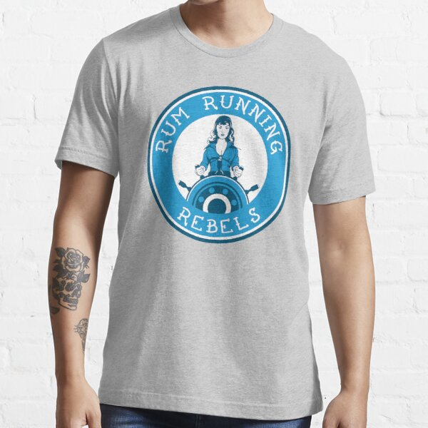 Jersey Shore Roller Girls - Rum Running Rebels Essential T-Shirt