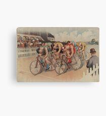 Lienzo Ilustración de carrera ciclista vintage (1895)