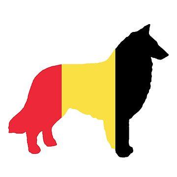 belgian tervuren flag silhouette by marasdaughter